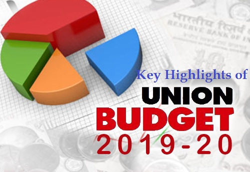 Key Highlights of Budget 2019-20