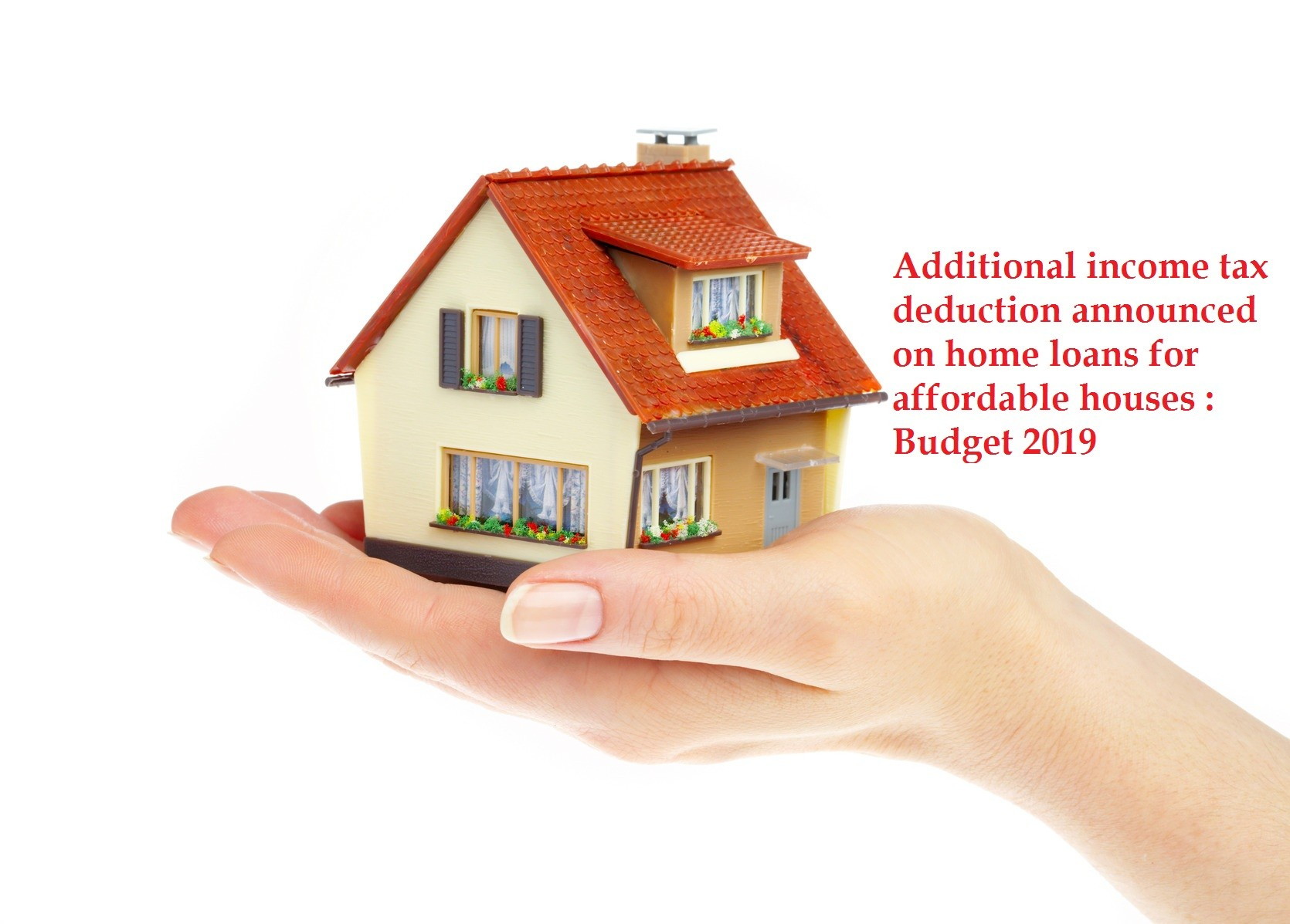 Additional income tax deduction announced on home loans for affordable houses : Budget 2019